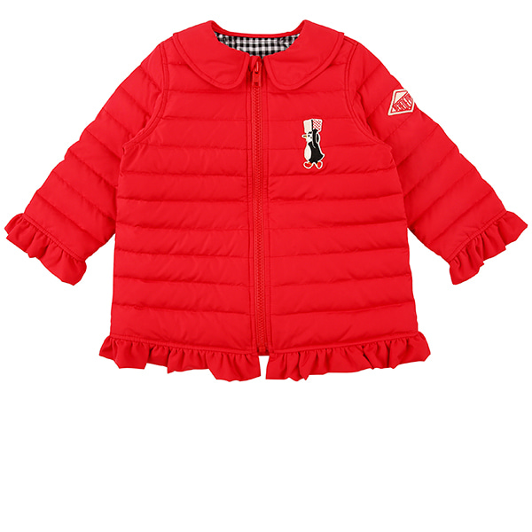 Scarlet baby quilted ruffle down jumper  (SO SO EVENT)