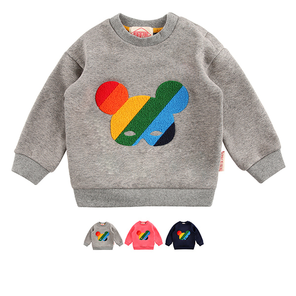 Basic baby rainbow pino fur sweatshirt  (SO SO EVENT)