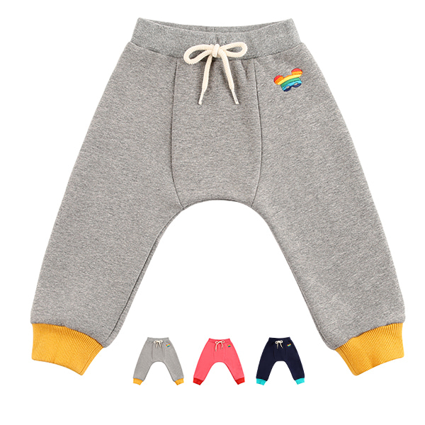Basic baby rainbow pino fur jersey pants  (SO SO EVENT)