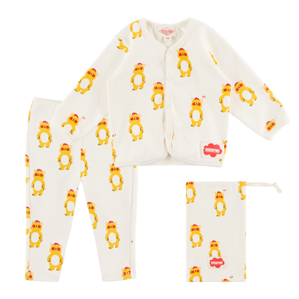 Multi bear baby homewear set