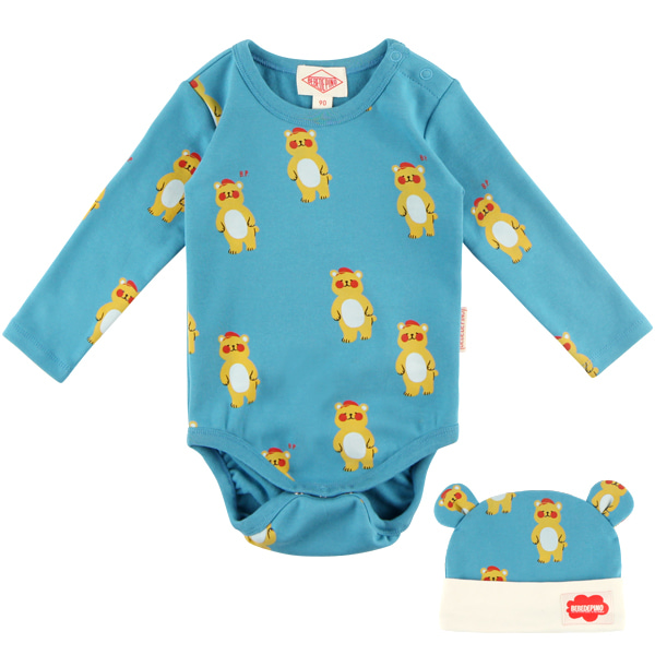 Multi bear baby bodysuit set