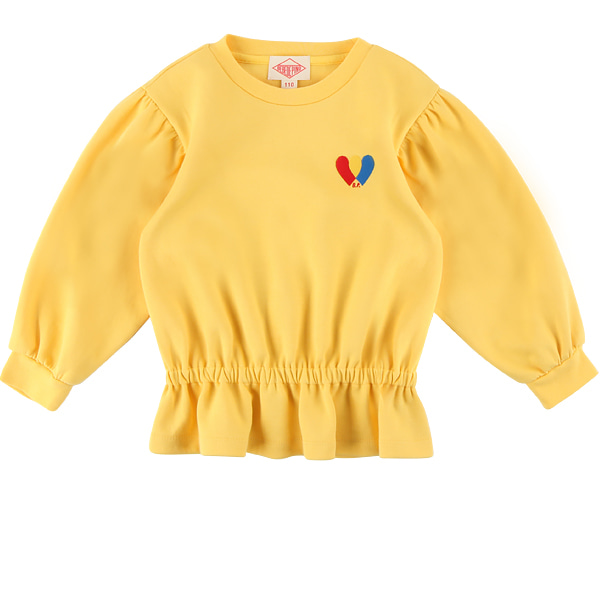 Heart ruffle long sleeve tee  NEW FALL