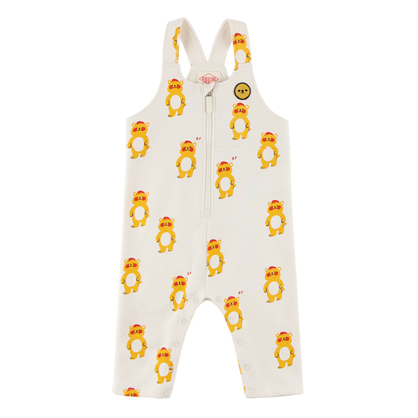 Multi bear baby zip up playsuit