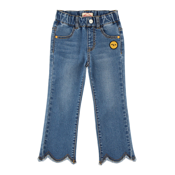 Smile wave cut flared denim pants  NEW FALL