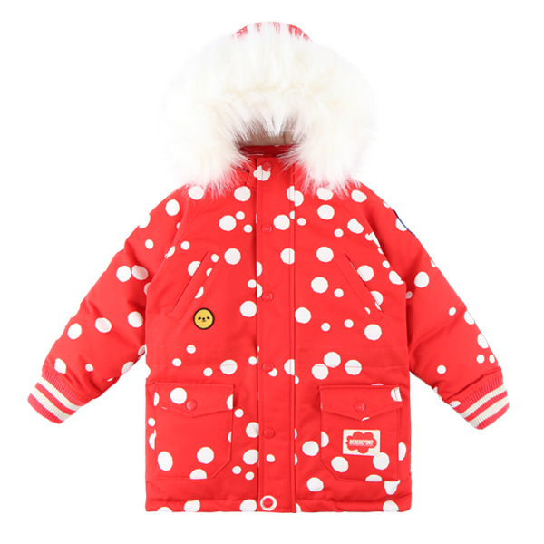Multi sprinkle dots down parka