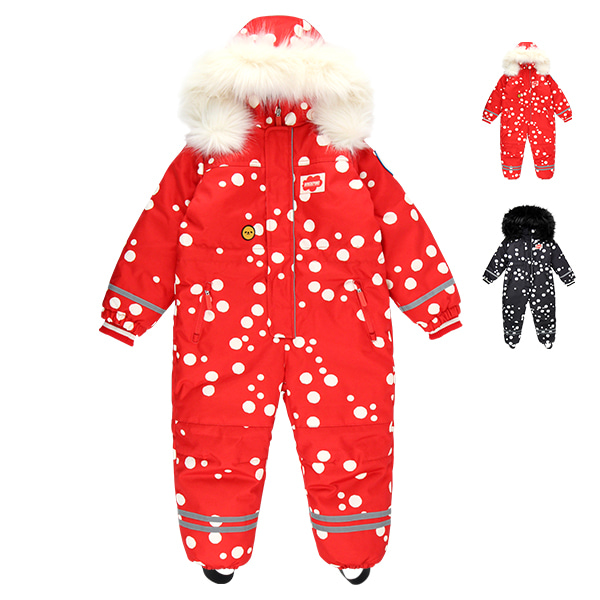 Multi sprinkle dots ski suit