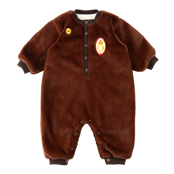 Bear baby winter fur overall
