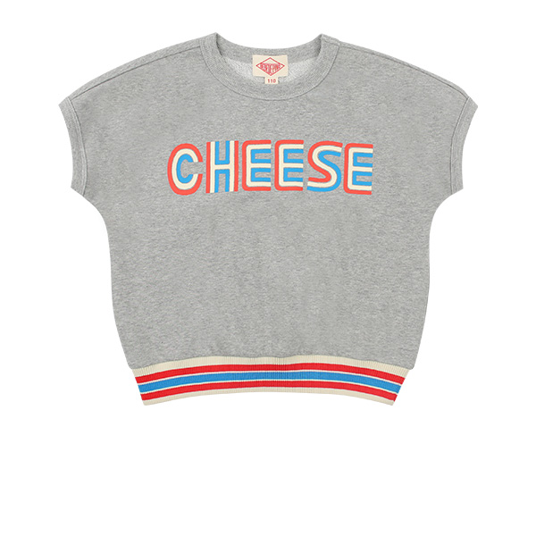 Cheese french sleeve sweatshirt  NEW SPRING