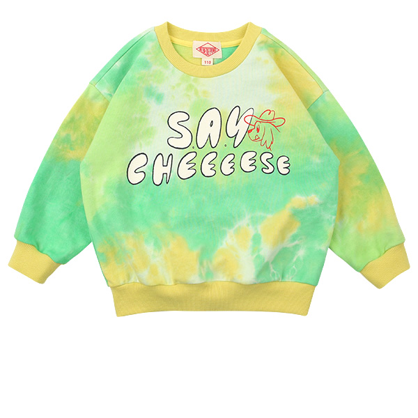Say cheese tie-dyeing sweatshirt  NEW SPRING