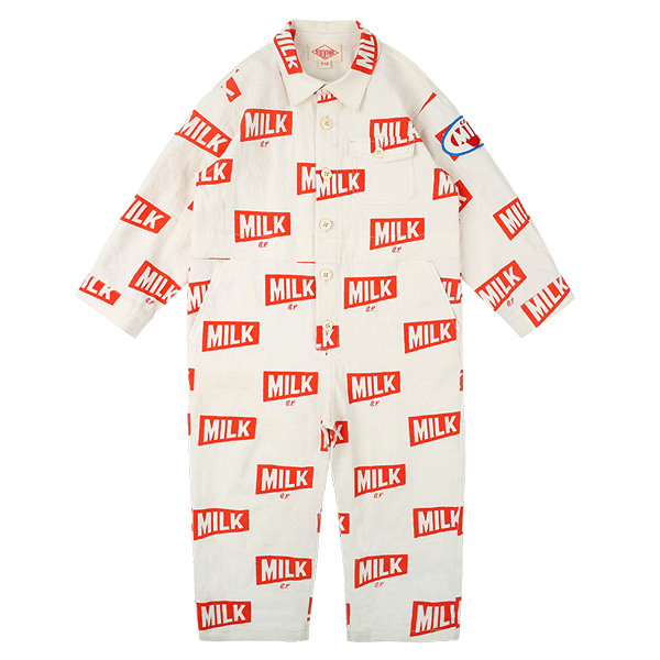 Multi milk jumpsuit