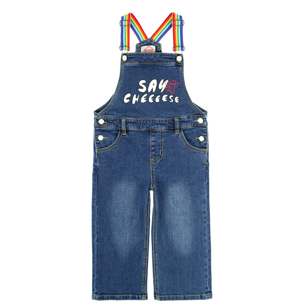 Say Cheese wide-fit denim overall