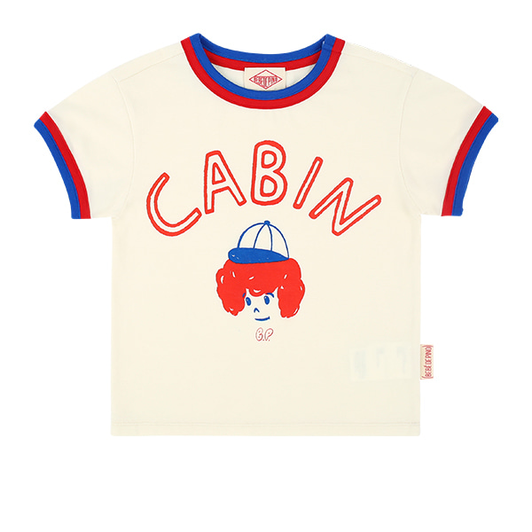 Cabin short sleeve ringer tee  NEW SUMMER
