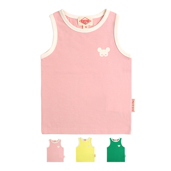 Basic baby pino mask sleeveless tee  NEW SUMMER