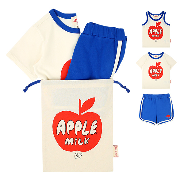 Apple milk blue lounge wear set  NEW SUMMER