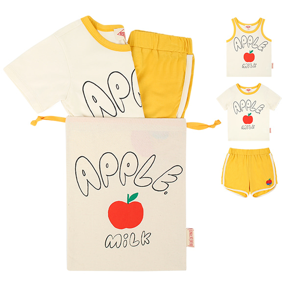 Apple milk mustard lounge wear set  NEW SUMMER