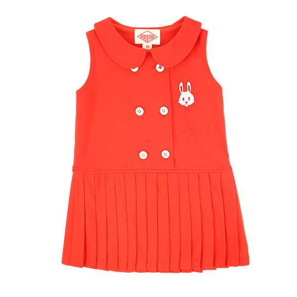 Bunny baby scarlet pique pleats dress  NEW SUMMER