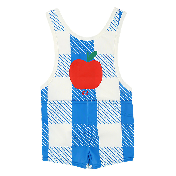 All over blue shepherd check swim suit  NEW SUMMER