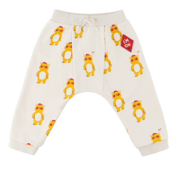 Multi bear baby straight jersey pants  NEW FALL