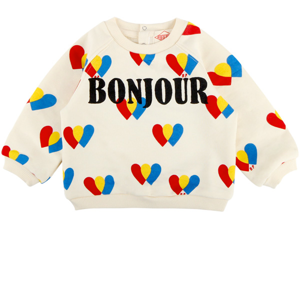 Multi heart baby baby crop sweatshirts
