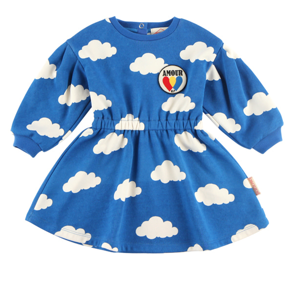 Multi cloud baby jersey dress