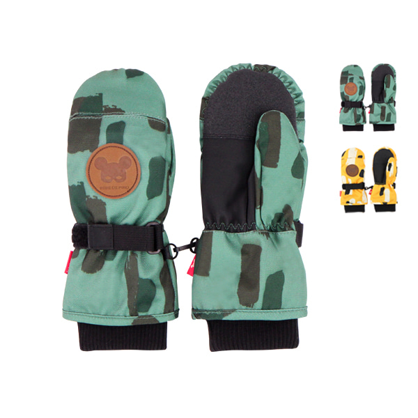 Camo water proof ski glove