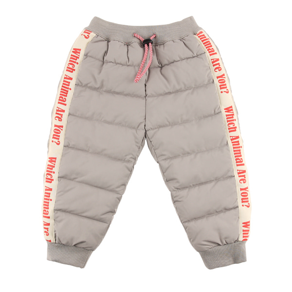 Lettering quilted jogger pants