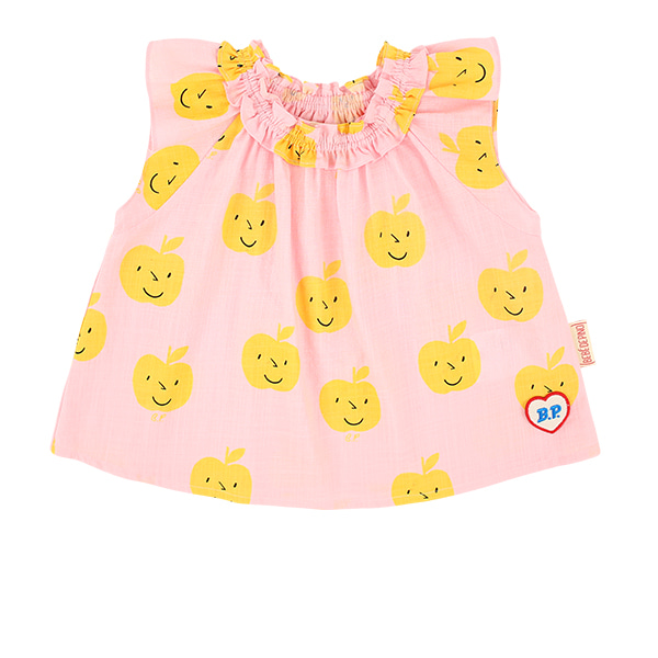 All over yellow apple baby ruffle blouse  NEW SUMMER