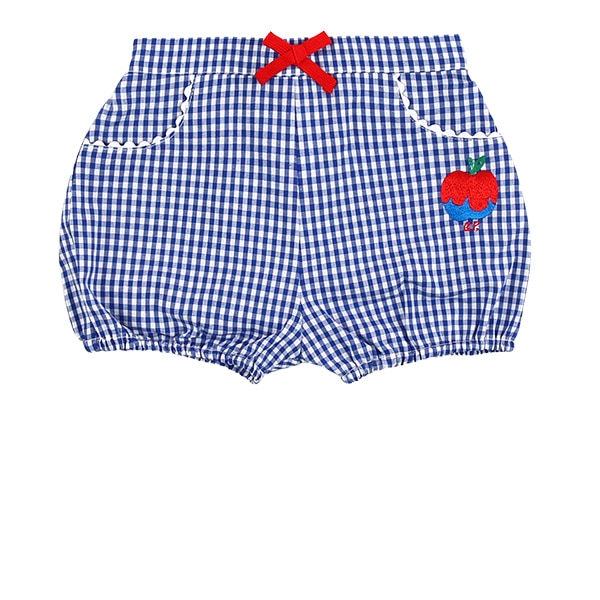 A sour apple baby blue gingham check short pants  NEW SUMMER